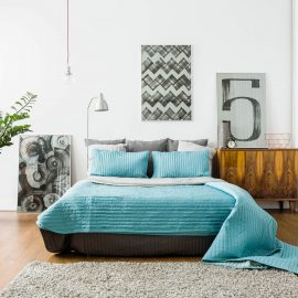 Chambray Fringe Quilt Cove